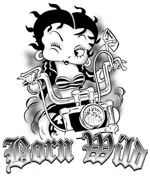 baby betty boop coloring pages winking biker betty boop born wild source altered artwork full - Betty Boop Coloring Pages Birthday