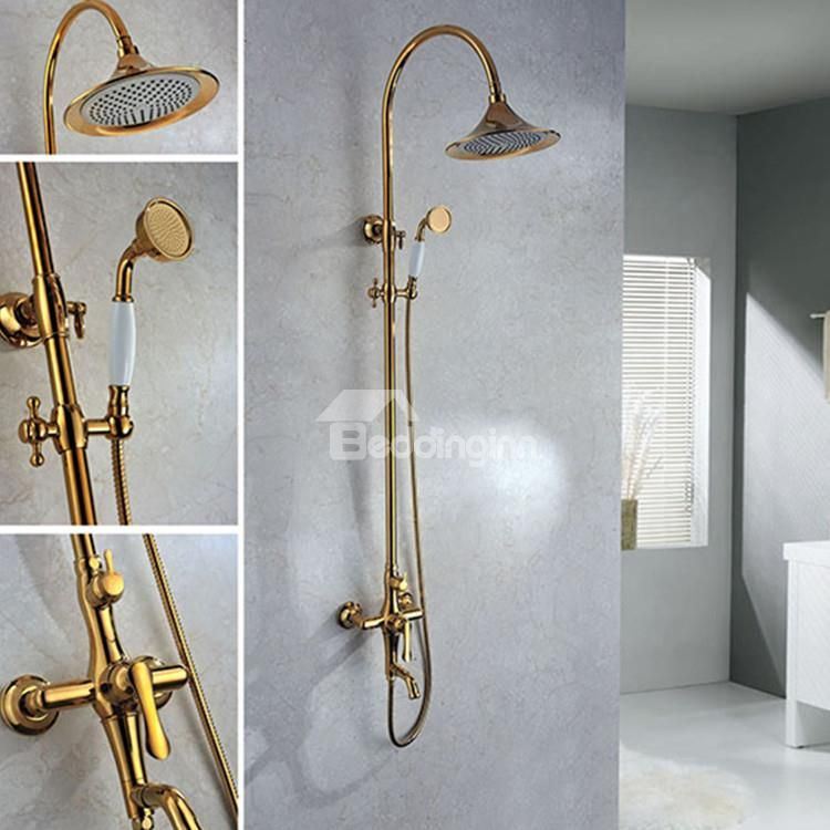 @bedding Inn $ 672.69 Top Selling Fantastic High Quality Gold Shower Head  Faucet Www.