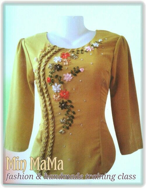 My Creation Ribbon Embroidery Dress Design My Creation Min Mama