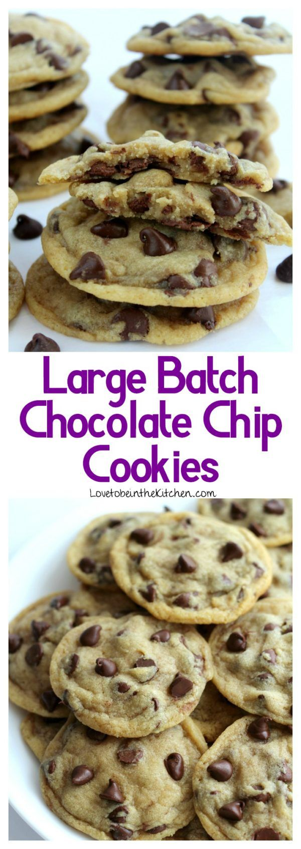 Large Batch Chocolate Chip Cookies - Love to be in the Kitchen