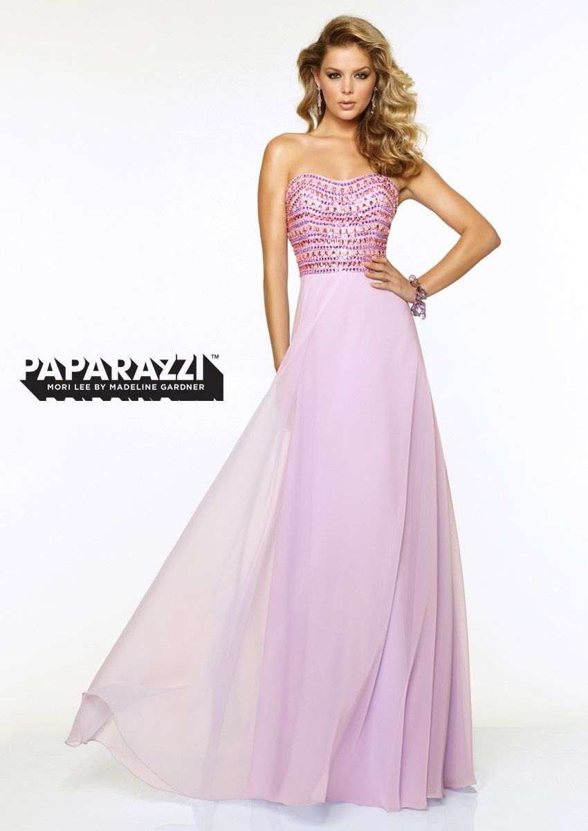 Prom dresses by Paparazzi Chiffon with Jewled Beading Zipper Back ...
