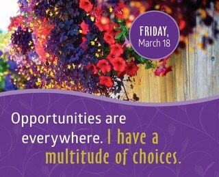 Oportunidades hay donde quiera.  Tengo multitud de opciones.