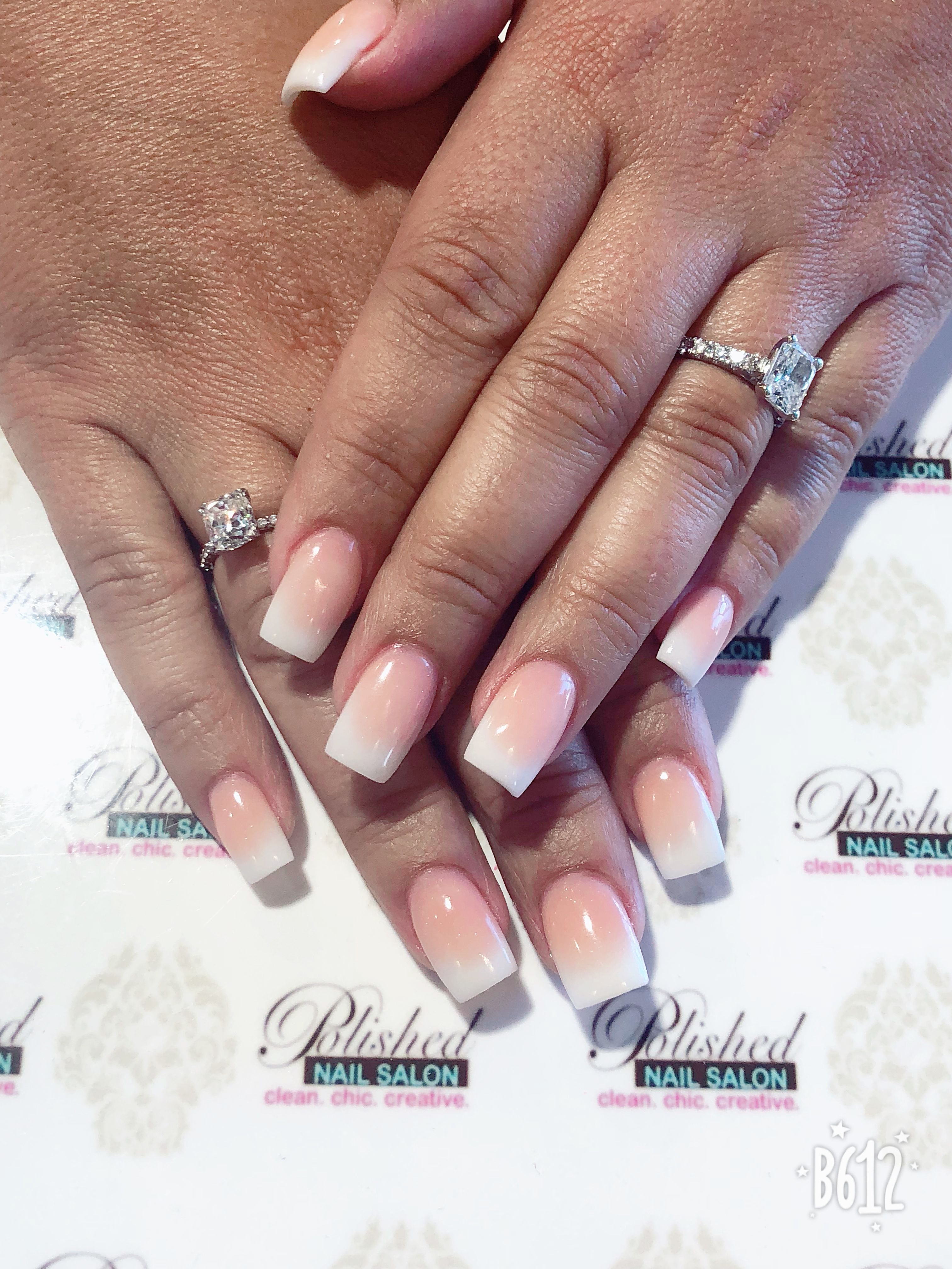 Square Ombre French Nails Ombre French Nails Short Square Acrylic Nails Pink Acrylic Nails