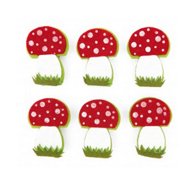Houten knijpers paddenstoel - http://credu.nl/product/houten-knijpers-paddenstoelen/