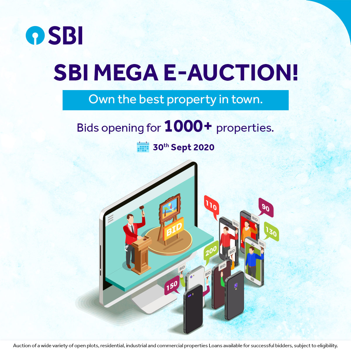 Planning To Invest In Properties Register For Sbi Mega E Auction Https Bank Sbi Web Sbi In The News Big Data Technologies Investment Property Bank Of India