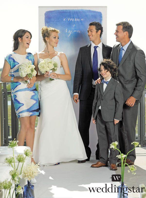 Aqueous Personalized Photo Backdrop Wedding Ceremony