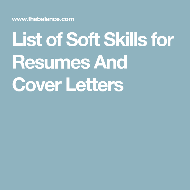List Of Soft Skills  Over  Examples  Resume Cover Letters