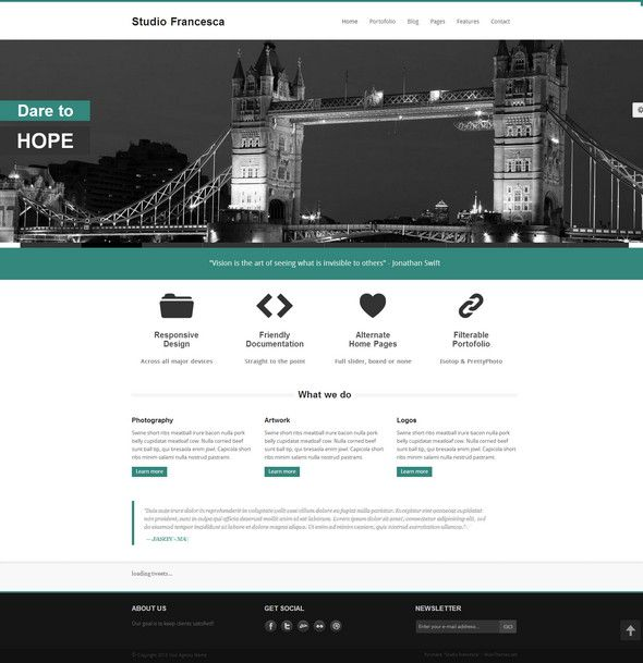 Studio Francesca - Premium | HTML5 - Responsive Templates ...