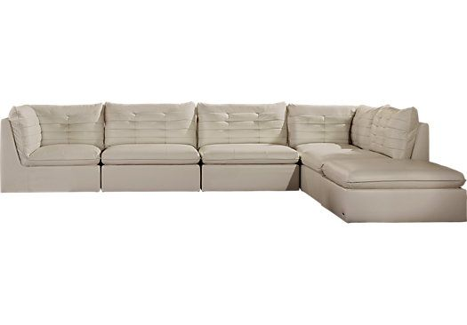 Admirable Sofia Vergara Valleta White 6 Pc Sectional Sectional Beatyapartments Chair Design Images Beatyapartmentscom