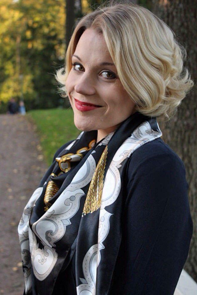 scarf hung over shoulders | Silk Neck Scarves | Pinterest ...