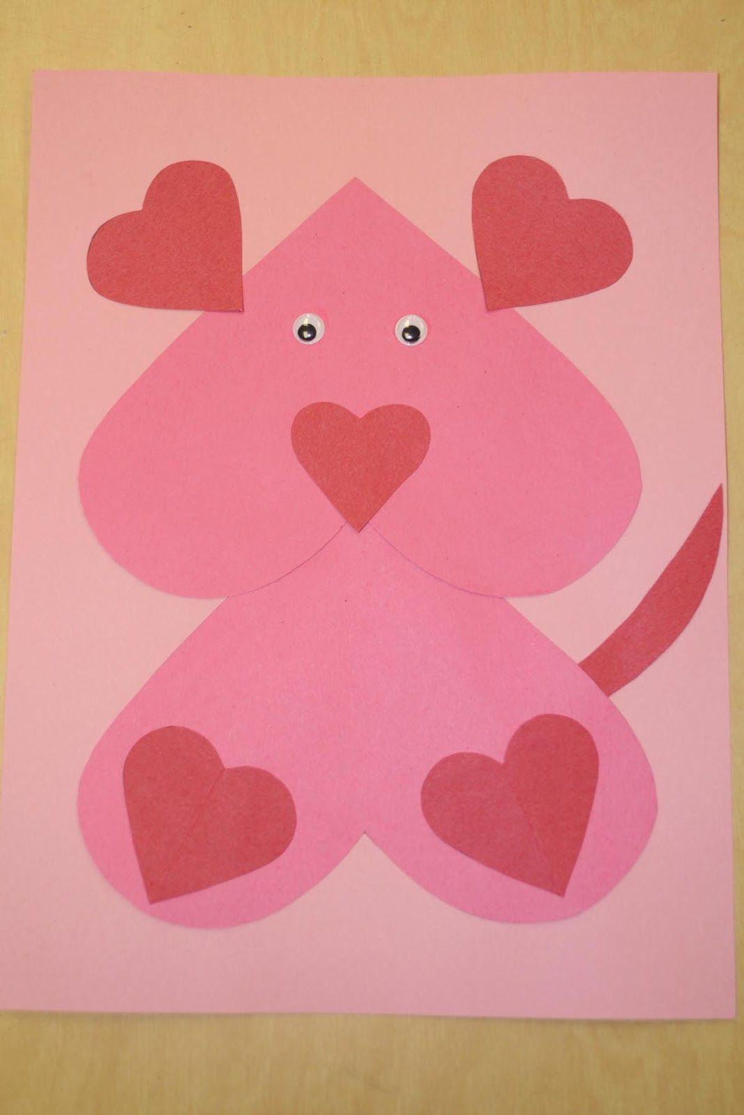 Class Craft Ovide Each Student With Cutout Hearts And
