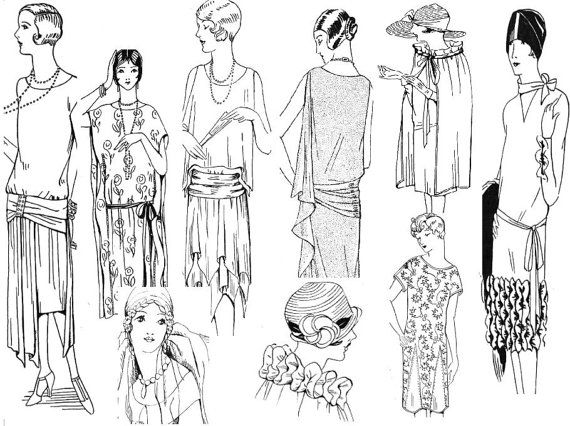 ruth wyeth spears sewing collection flapper style embellishments and 1920s Female Fashion ruth wyeth spears sewing collection flapper style embellishments and dress instructions from the 1920s downloadable pdf
