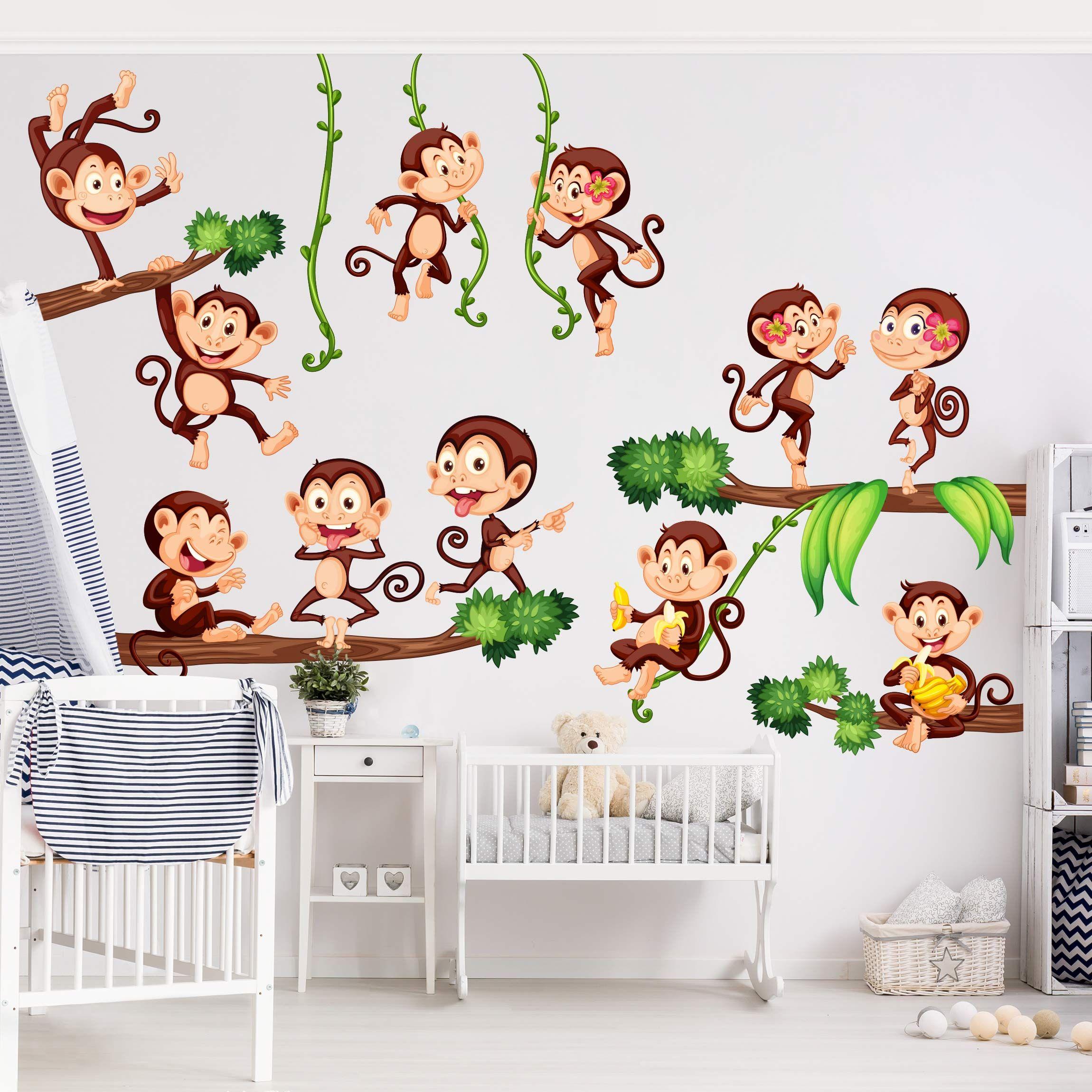 Wandtattoo Kinderzimmer Affen des Dschungels in 2019