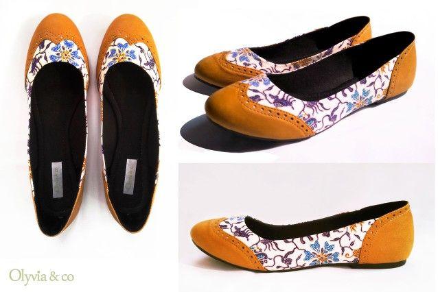Pin oleh olyvia&co di indonesia batik flat shoes | Flat shoes
