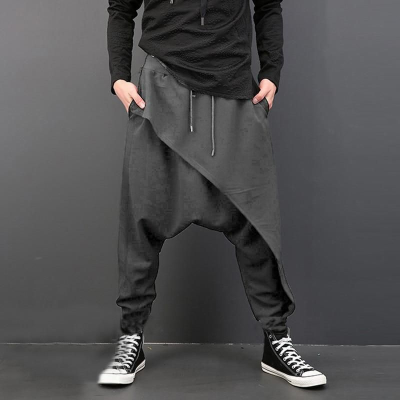 Harem Pants Tie Dye Drop Crotch Pants Cyberpunk