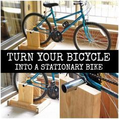 Diy Stand To Turn Your Bicycle Into A Stationary Bike Diy