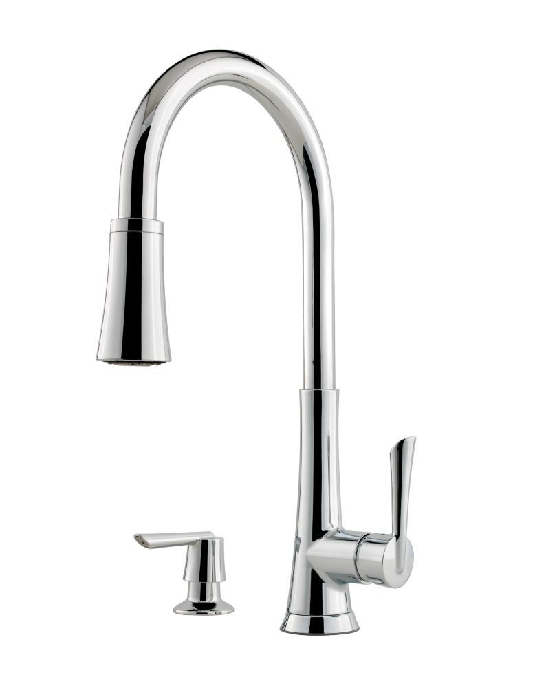 Mystique Kitchen Pull Down Faucet Faucet in Polished Chrome