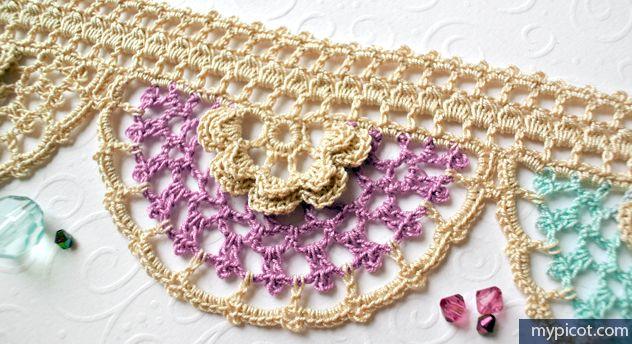 Crochet Lace Patterns Step By Step : MyPicot Free crochet patterns Free Crochet Flower Edging ...