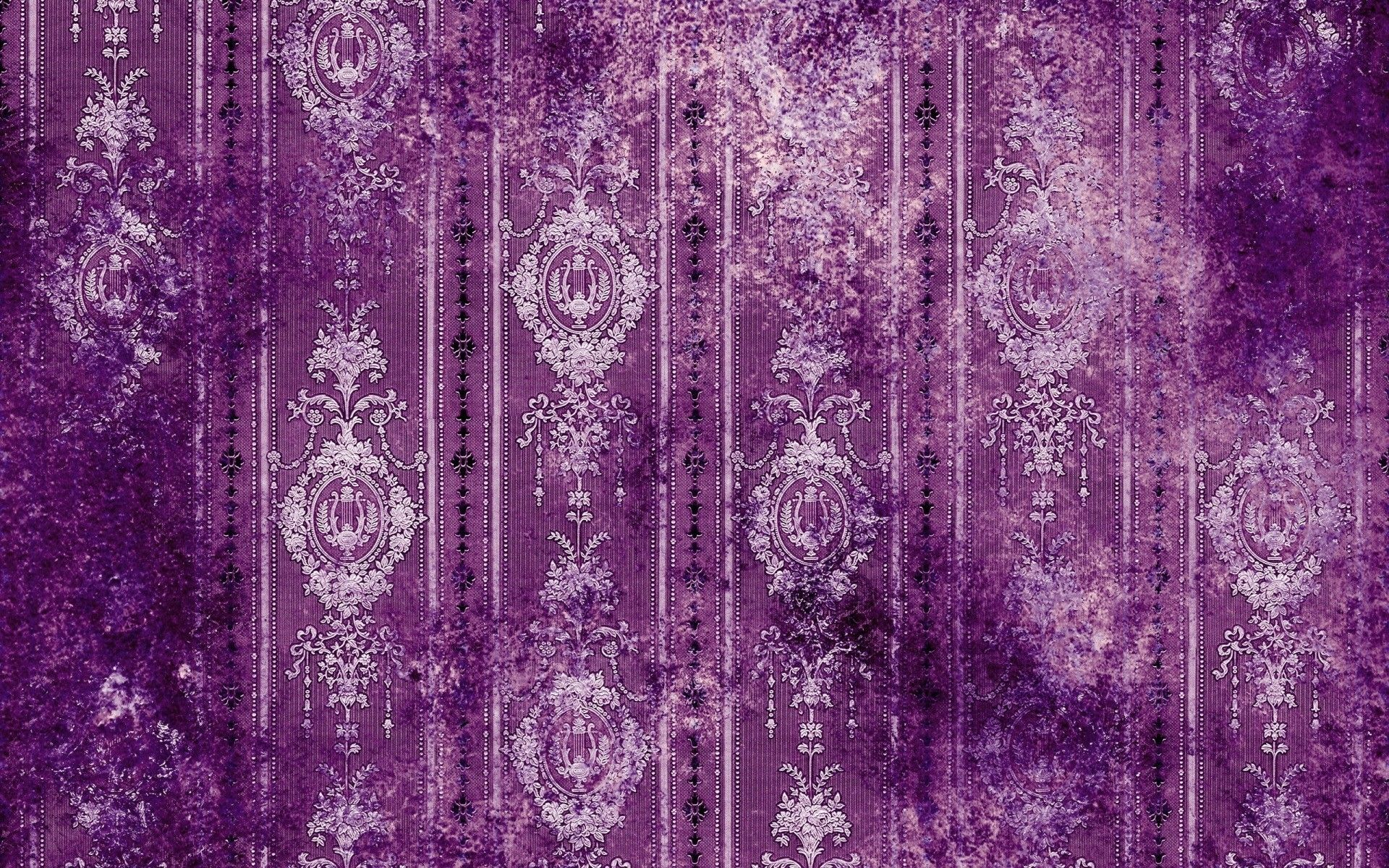 Abstract vintage old purple patterns artwork 1920x1200 hd for Purple wallpaper for walls