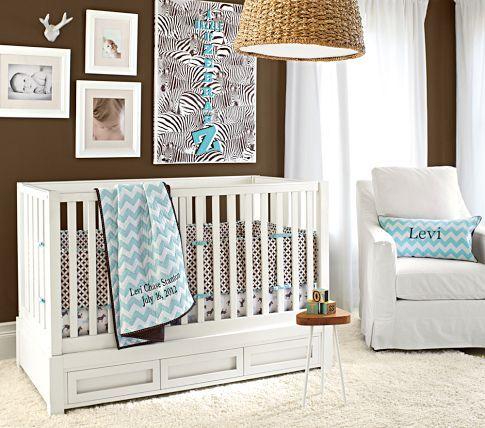 Skylar Fixed Gate Crib | Pottery Barn Kids - crib with drawers ...