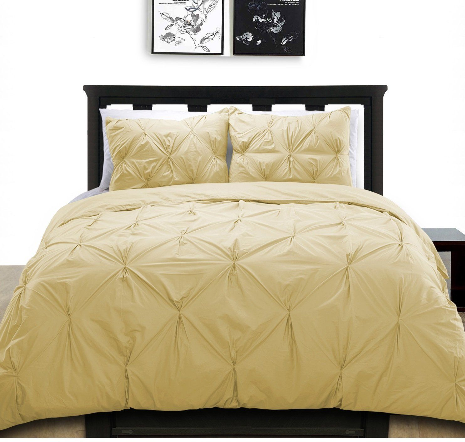 pinch queen pleat duvets floral pinched covers pleated cover piece bedding sets pintuck green set duvet c chic dark