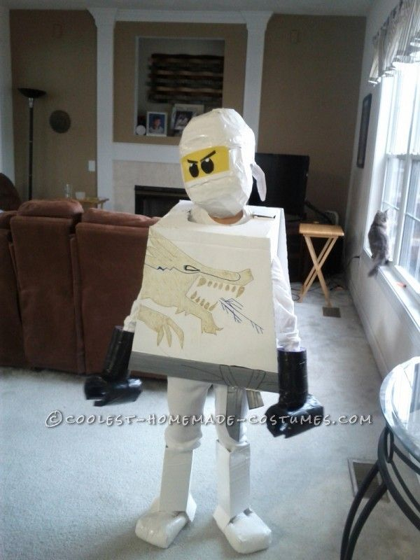 Cool Homemade LEGO Ninjago Zane White Ninja Costume ...This website is the Pinterest of Halloween costumes for kids