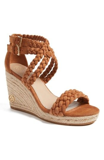 ce20acc3a Free shipping and returns on Tory Burch Bailey Wedge Sandal (Women) at  Nordstrom.com. Intricate braided straps enhance the bohemian beauty of a  chic ...