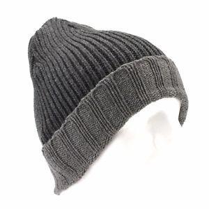 Croft & Barrow Gray Knit Beanie for Men Watch Cuff Winter Hat - One Size