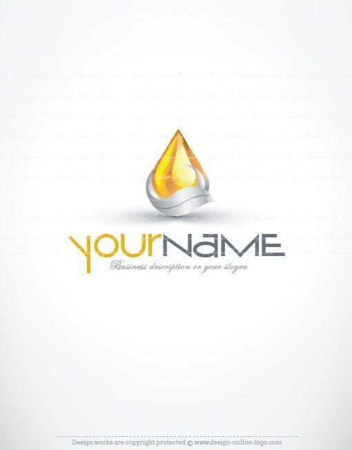 Exclusive Design 3d Drop Logo Compatible Free Business