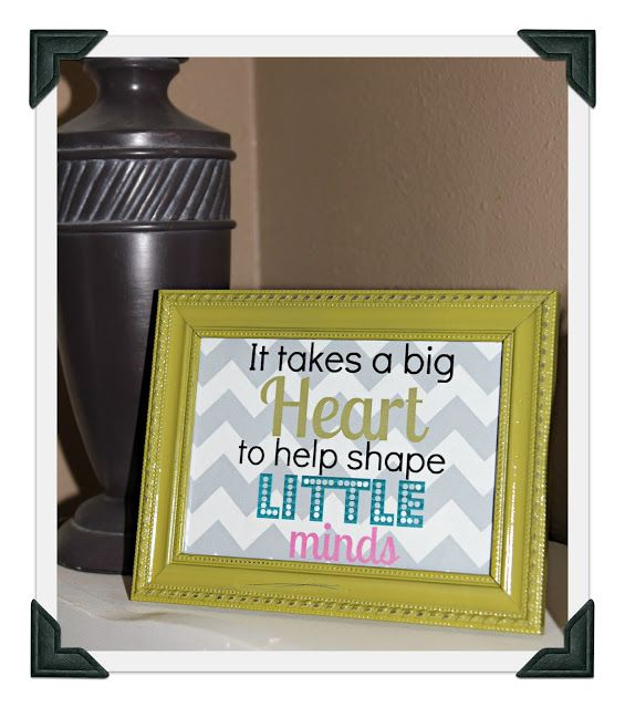end of the year teacher gift, free printable to put in frames #eceappreciationgiftideas