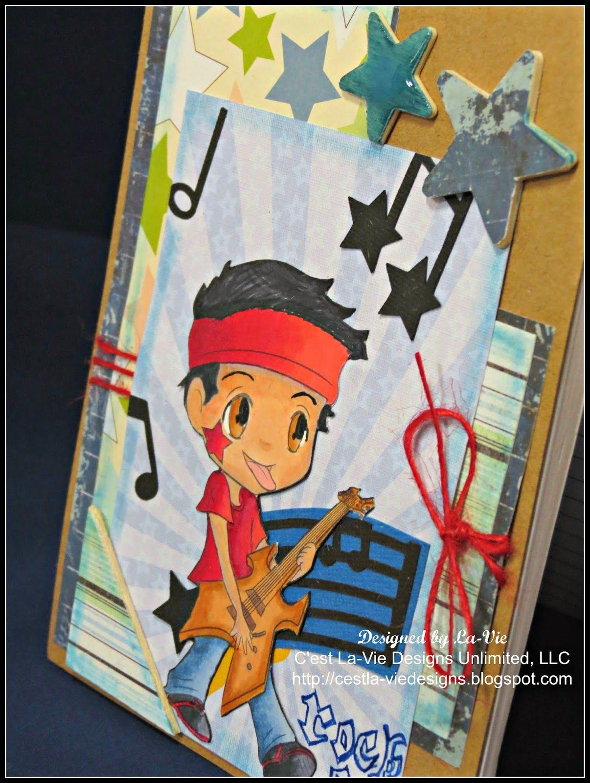 C'est La-Vie Designs Unltd., LLC: My First DT Post for Lil Patch of Crafty Friends Challenge #7 - Anything goes