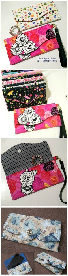 Simple Clutch - free pattern | Bag sewing patterns, Sewing patterns ...