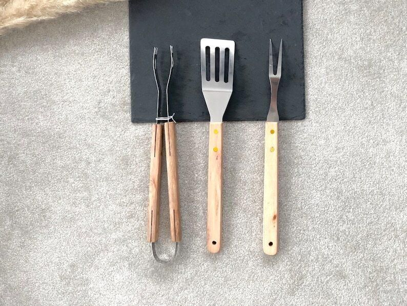 Home Grillset mit Grillzange & Spatel