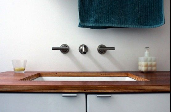 Pin By Katy Cutshall On Architectural Gems Plywood Countertop Master Bathroom Renovation Plywood Counter