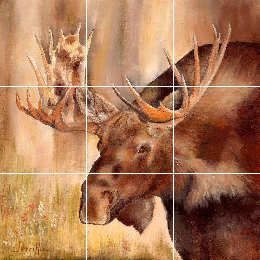 Mural Tiles For Kitchen Decor Moose Tile Mural Painting Back Splash Kitchen Home Decor Art