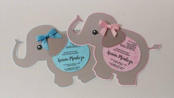Baby Shower Invitations Elephant Baby Shower Invitations Cute Elephant Invitations Baby Shower Invitaciones Invitaciones Decoraciones De Baby Shower Para Niños