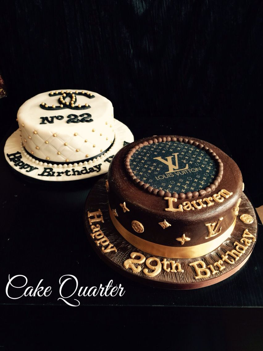 Designer Birthday Cakes Chanel Cake And Louis Vuitton Themed Designed By Quarter Wedding O