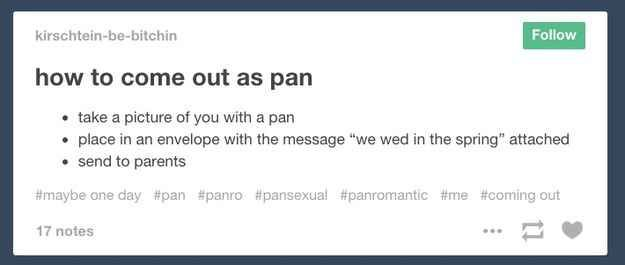 Pansexual coming out stories