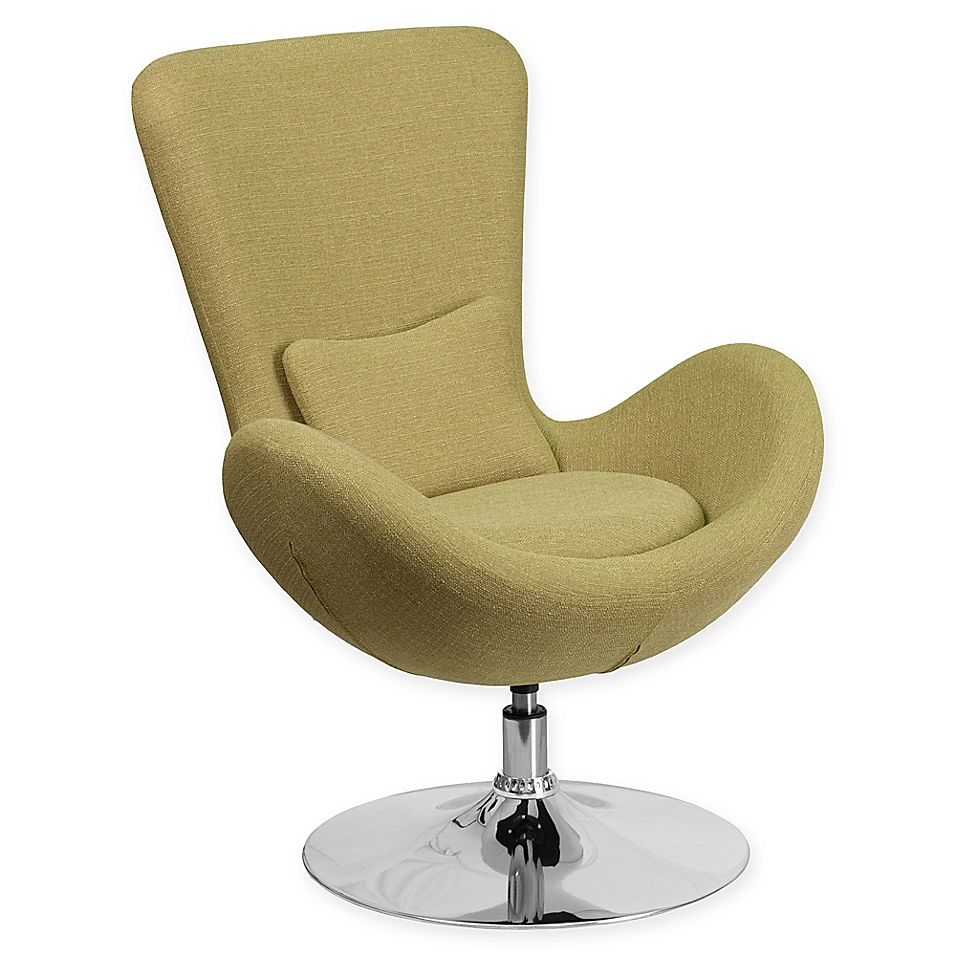 Oversized Accent Chair Green Transitional: Flash Furniture Egg Series Reception Lounge Side Chair In