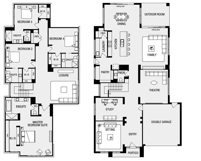 Metricon Sovereign 50 Laundry Behind Kitchen Butlers Pantry House Plans Australia Home Design Floor Plans Modern House Floor Plans