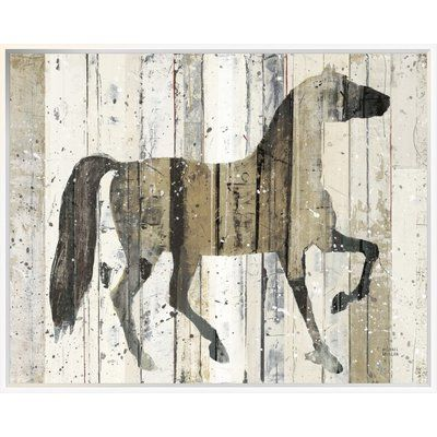 East Urban Home \'Dark Horse v2\' Print Format: Collins White Framed ...