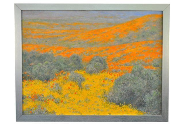 Art Nouveau Inspired California Poppy By Mason Larose: Poppy Reserve California (With Images)