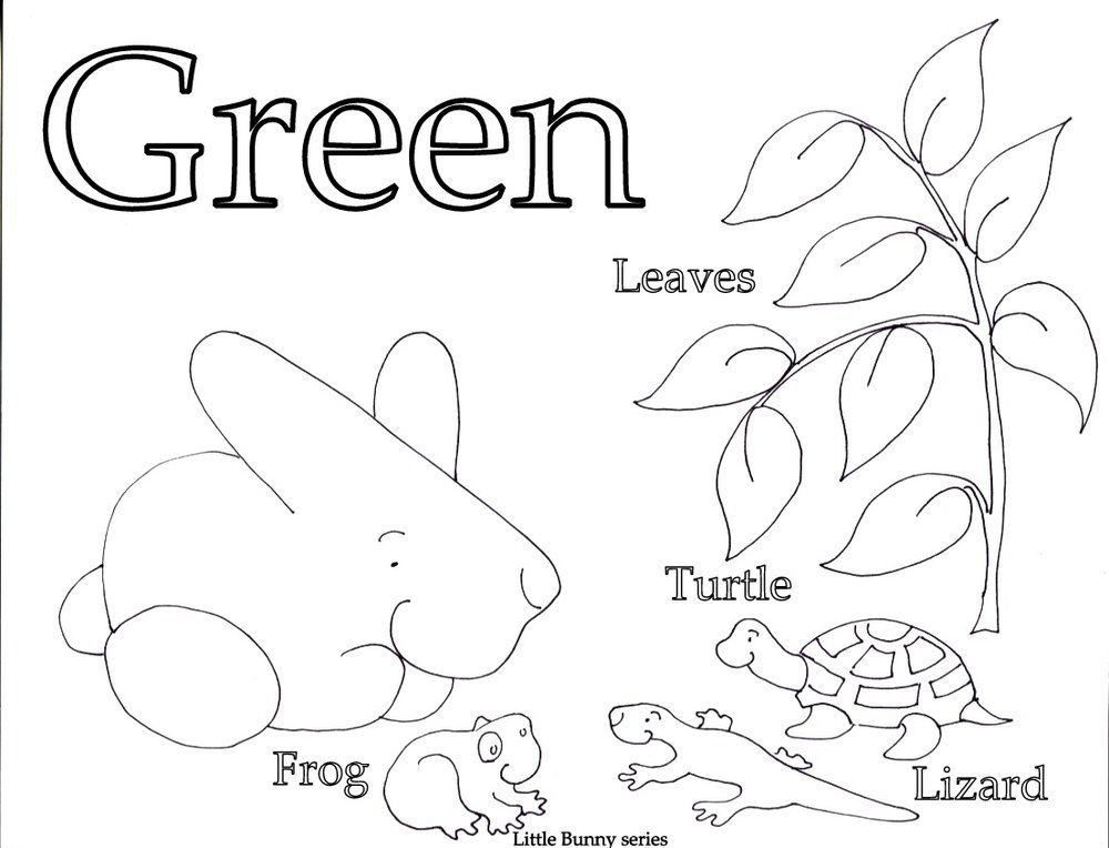 Green Coloring Page Pdf Letter A Coloring Pages Coloring Pages