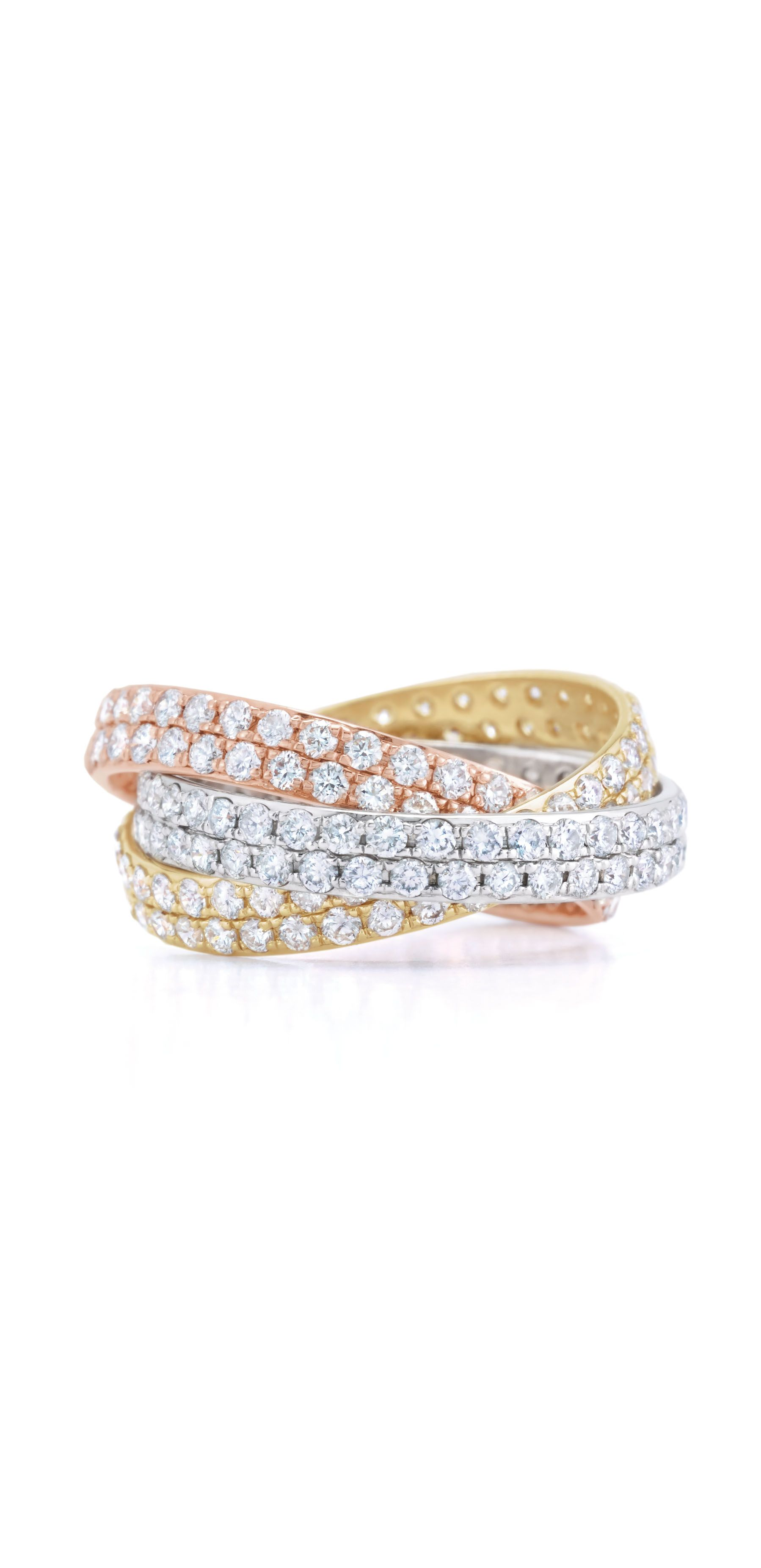 stone band wedding diamond eternity bands jewelry yellow mixed gold bridal