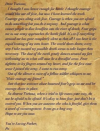 A letter from A civil war Sol r to his daughter written by me