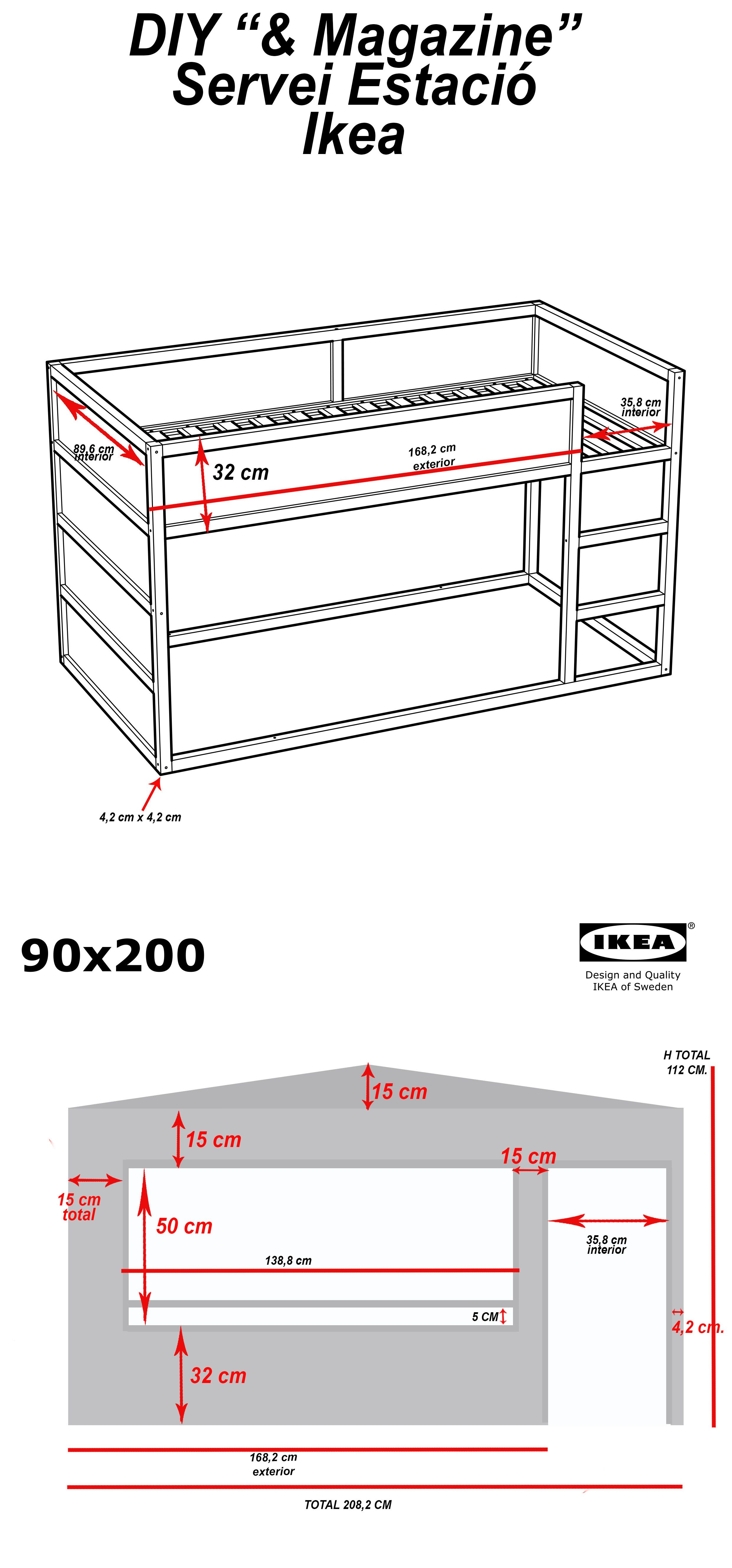 superb Kura Dimensions Part - 2: DIY: Wood house with Kura beds - IKEA Hackers