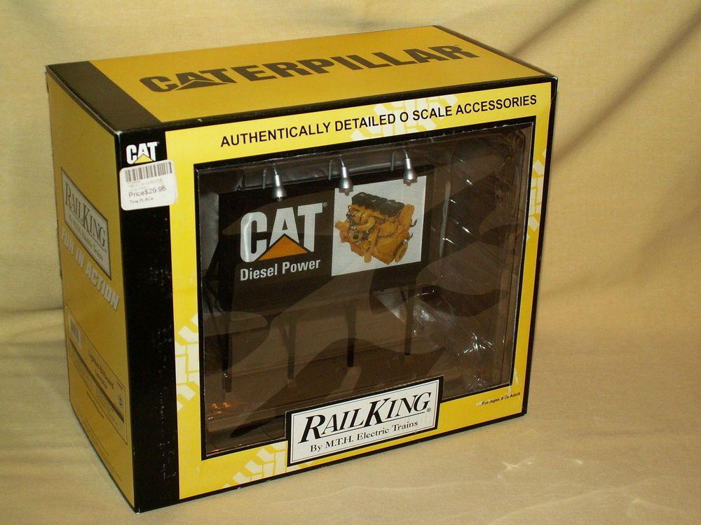 CATERPILLAR BILLBOARD CAT DIESEL POWER RAILKING MTH