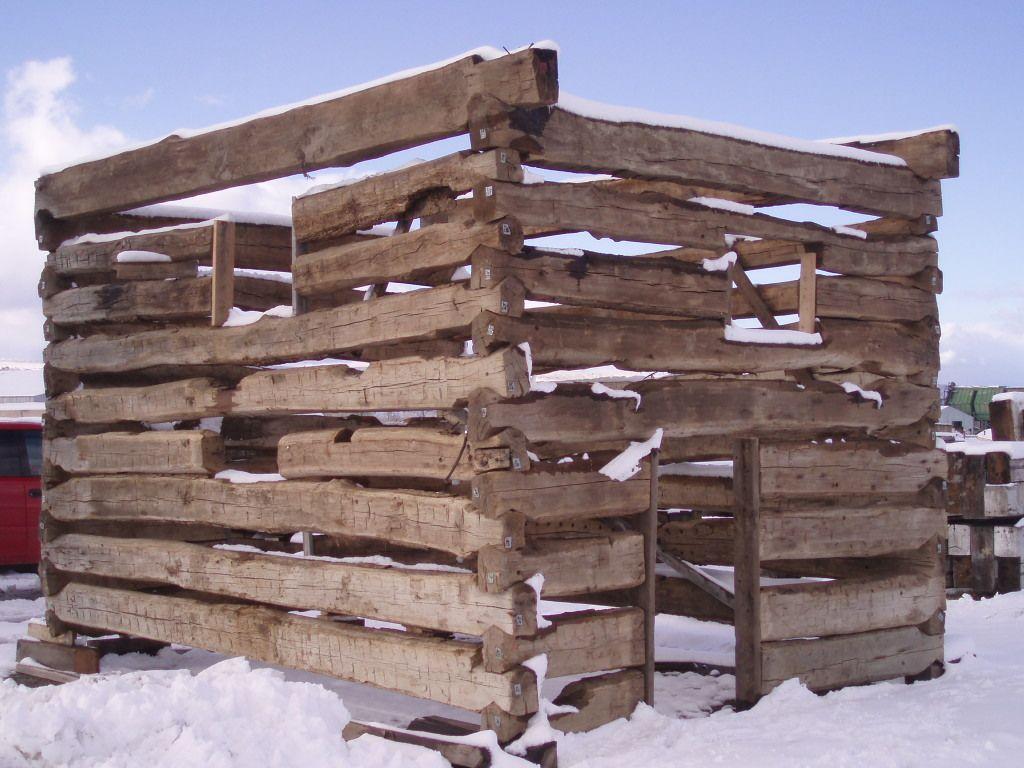 Dovetailed technologies llc - Hand Hewn Oak Dovetail Cabin Montana Reclaimed Lumber Co