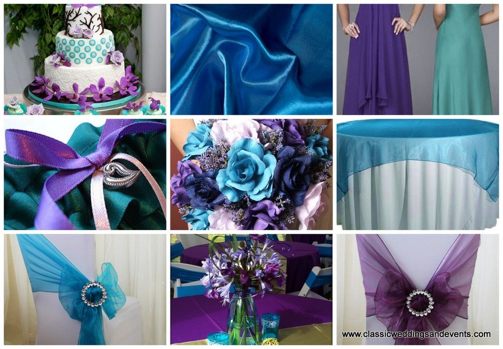 purple and turquoise wedding centerpiece   Pink and Turquoise ...