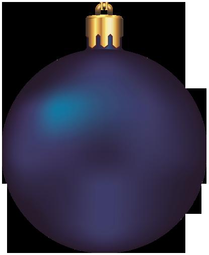 dark blue christmas ornament
